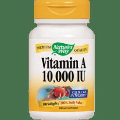 Natures Way Vitamin A 10000 IU 100 gels VIT34