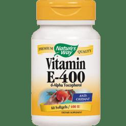 Natures Way Vitamin E 400 IU 60 gels EVIT3