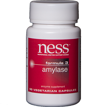Ness Enzymes Amylase Formula 3 90 vegetarian capsules FORM4