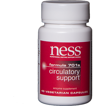 Ness Enzymes Circulatory Support 701S 40 vegcaps FOR42