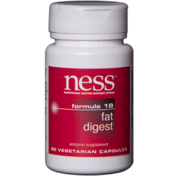Ness Enzymes Fat Digest 18 90 vegcaps FOR31