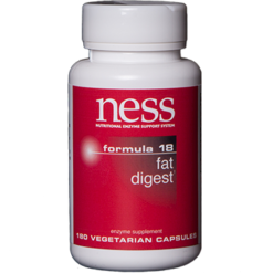 Ness Enzymes Fat Digest Formula 18 180 capsules FORM6