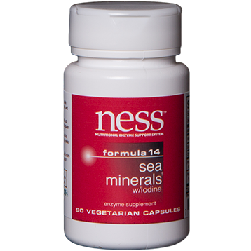 Ness Enzymes Sea Minerals w Iodine 14 90 caps FOR17