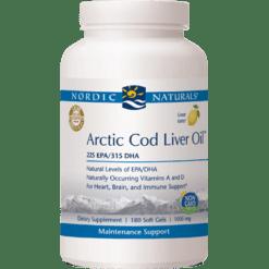 Nordic Naturals Arctic Cod Liver Oil Lemon 180 gels ARC31