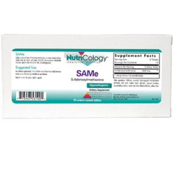 Nutricology SAMe 200 mg 20 tablets SAM18