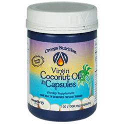 Omega Nutrition Coconut Oil 1000 mg 150 capsules VCO15