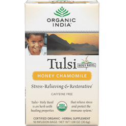 Organic India Tulsi Tea Honey Chamomile 18 bags R00055