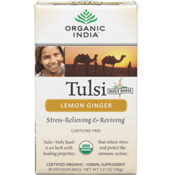 Organic India Tulsi Tea Lemon Ginger 18 bags R00086