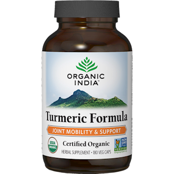 Organic India Turmeric Formula 180 vegcaps O12485