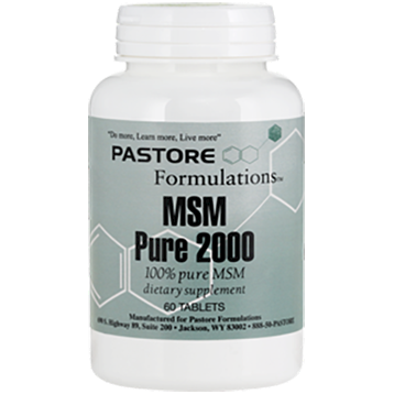 Pastore Formulations MSM 2000 mg 60 tablets PTF8