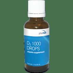 Pharmax D3 1000 Drops 1 oz PH5330