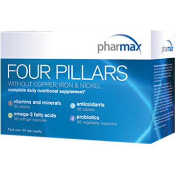 Pharmax Four Pillars without Fe Cu amp Ni 30 servings FOUR2