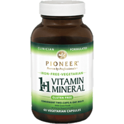 Pioneer 11 Vitamin Mineral Iron Free 60 vegcaps VIT96