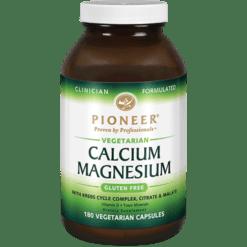Pioneer Calcium Magnesium 180 vegcaps CA114