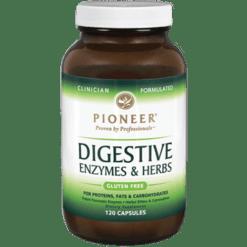 Pioneer Digestive Enzymes Herbs 120 vegetarian capsules DIG24