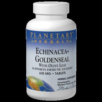 Planetary Herbals Echinacea Goldenseal w Olive Leaf 30tabs PF0445
