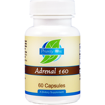 Priority One Vitamins Adrenal 160 mg 60 capsules ADR42
