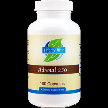 Priority One Vitamins Adrenal 250 mg 180 caps ADR43