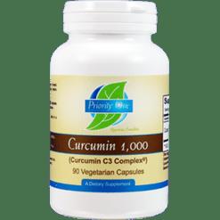 Priority One Vitamins Curcumin 1000 mg 90 capsules CUR11