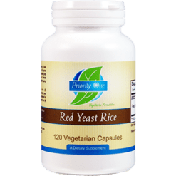 Priority One Vitamins Red Yeast Rice 120 vegcaps PR1191