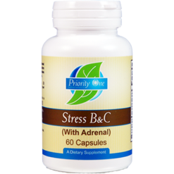 Priority One Vitamins Stress BampC w Adrenal 60 caps ANT28