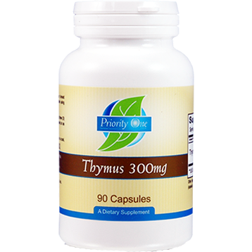 Priority One Vitamins Thymus 300 mg 90 capsules THY39