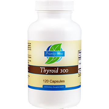 Priority One Vitamins Thyroid 300 mg 120 caps THY43