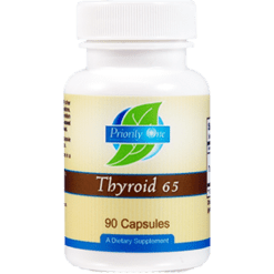 Priority One Vitamins Thyroid 65 mg 90 capsules THY64