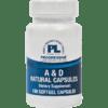 Progressive Labs A amp D Natural Capsules 100 gels ADNA