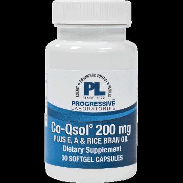 Progressive Labs CoQsol E A amp Rice Bran 200 mg 30 gels CO163