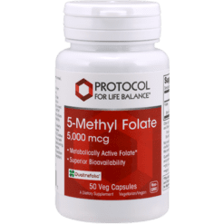 Protocol For Life Balance 5 Methyl Folate 5000 mcg 50 vegcaps P04921