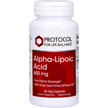 Protocol For Life Balance Alpha Lipoic Acid 600 mg 60 vcaps ALP45