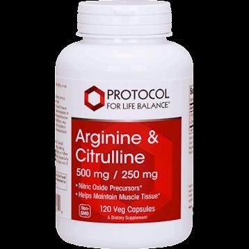 Protocol For Life Balance Arginine Citrulline 500 250 120 vegcaps P00374