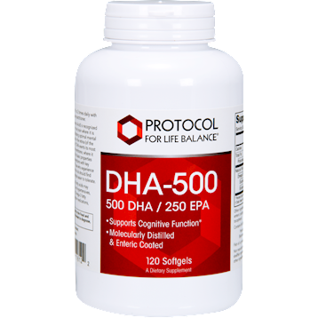 Protocol For Life Balance DHA 500 500 DHA 250 EPA 120 softgels P1612