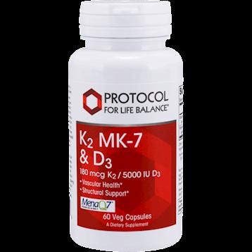 Protocol For Life Balance K2 MK 7 amp D3 60 vegcaps P03849