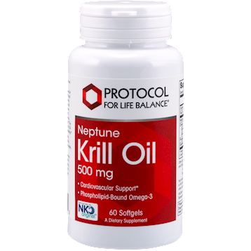 Protocol For Life Balance Krill Oil 500 mg Neptune NKO 60 gels KRIL6