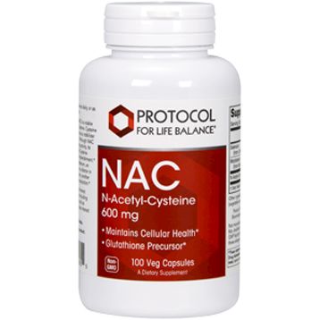 Protocol For Life Balance NAC 600 mg 100 caps NAC20