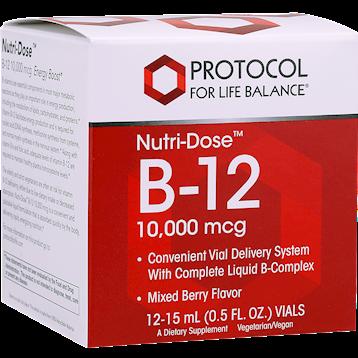 Protocol For Life Balance Nutri Dose™ B 12 10000 mcg 12 Vials B1210