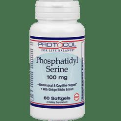 Protocol For Life Balance Phosphatidyl Serine 100 mg 60 gels PHOSE
