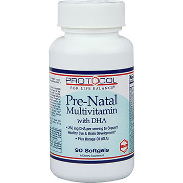 Protocol For Life Balance Pre Natal Multivitamin with DHA 90 Gels P3809