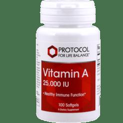 Protocol For Life Balance Vitamin A 25000IU 100 gels P0340