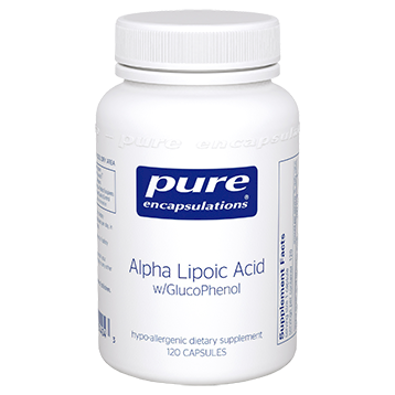 Pure Encapsulations Alpha Lipoic Acid w GlucoPhen 120 caps P14043
