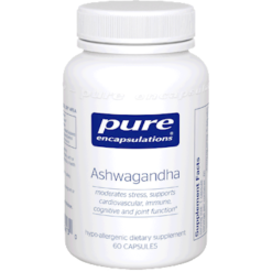 Pure Encapsulations Ashwagandha 500 mg 60 vegcaps ASH12
