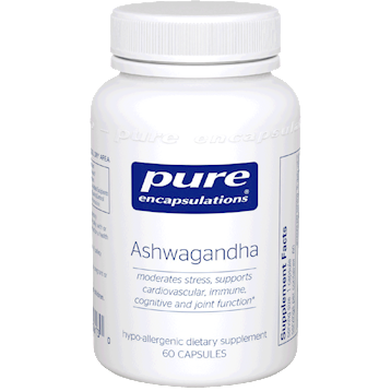 Pure Encapsulations Ashwagandha 500 mg 60 vegcaps ASH12
