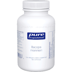 Pure Encapsulations Bacopa monniera 200 mg 180 vcaps BACO3