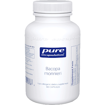 Pure Encapsulations Bacopa monniera 200 mg 180 vcaps BACO3