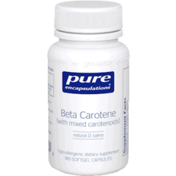 Pure Encapsulations Beta Carotene 25000 IU 180 gels BET13