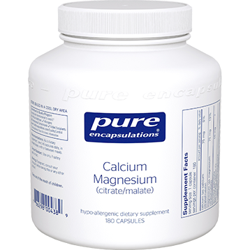 Pure Encapsulations Cal Mag Citrate Malate 180 vcaps CAL74
