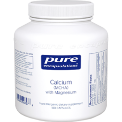 Pure Encapsulations Calcium MCHA with Magnesium 180 vcaps CA139