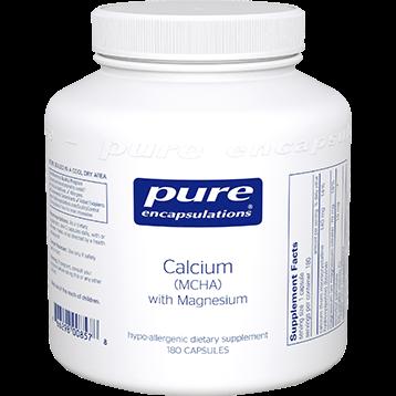 Pure Encapsulations Calcium MCHA with Magnesium 180 vcaps CA139
